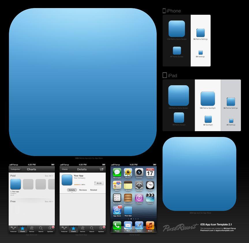 iOS app icon template – John Stejskal : Software and Game Developer
