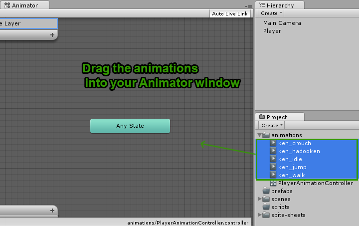 Creating 2D animation states in Unity3D : Part 2