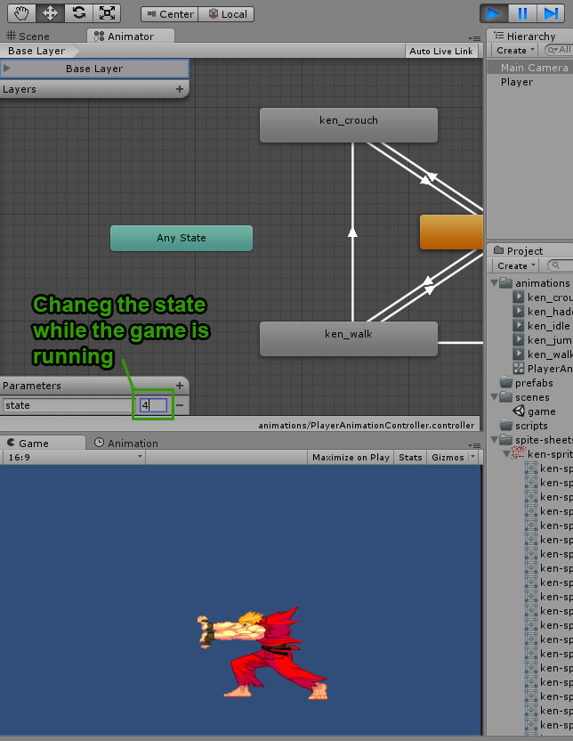 Creating 2D animation states in Unity3D : Part 2 – Understanding the
