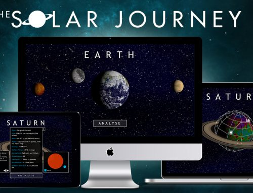 My latest project launched,  The Solar Journey –  An 3D interactive web adventure through the solar system
